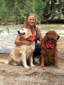Executive Director - Nancy Trepagnier, with Snickers and Tabor